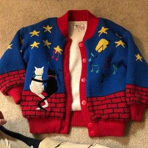 🆕🚨 vintage cat cardigan sweater 🐈